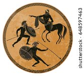 ancient greek mythology set.... | Shutterstock .eps vector #648597463