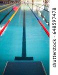 starting line in indoor... | Shutterstock . vector #648597478