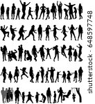 large collection silhouettes of ... | Shutterstock .eps vector #648597748