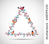 vector illustration of floral...   Shutterstock .eps vector #648599134