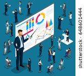 isometric cartoon people  3d... | Shutterstock .eps vector #648601444