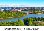 scenic summer aerial panorama... | Shutterstock . vector #648601834