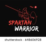 spartan warrior stylized... | Shutterstock .eps vector #648606928