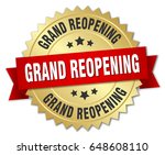 grand reopening round isolated... | Shutterstock .eps vector #648608110