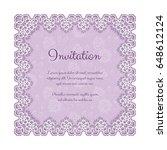 elegant invitation or greeting...   Shutterstock .eps vector #648612124