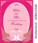 vintage invitation and wedding...   Shutterstock .eps vector #648612268