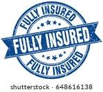 fully insured round grunge... | Shutterstock .eps vector #648616138