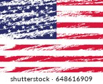 creative isolated usa flag in... | Shutterstock .eps vector #648616909