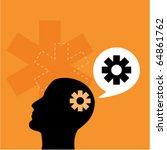 human head with gears | Shutterstock .eps vector #64861762