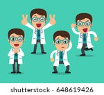 cartoon male doctor character... | Shutterstock .eps vector #648619426