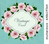 beautiful vintage card with... | Shutterstock .eps vector #648619564