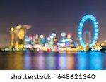 vibrant color blur cityscape... | Shutterstock . vector #648621340