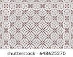 geometric pattern in floral...   Shutterstock .eps vector #648625270