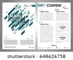 vector flyer  corporate... | Shutterstock .eps vector #648626758