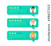 review rating bubble speeches... | Shutterstock .eps vector #648627313