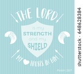 bible quote typographic for... | Shutterstock .eps vector #648628384