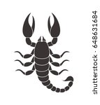 Abstract Scorpion. Isolated...