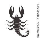Abstract Scorpio. Isolated...