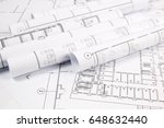 architectural plan. engineering ... | Shutterstock . vector #648632440