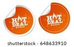 hot deals stickers   Shutterstock .eps vector #648633910