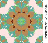seamless pattern with floral...   Shutterstock .eps vector #648636736