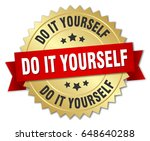 do it yourself round isolated... | Shutterstock .eps vector #648640288