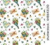 bright summer seamless pattern. ... | Shutterstock . vector #648643150