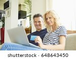 shot of a happy mature couple... | Shutterstock . vector #648643450