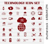technology innovation icons set.... | Shutterstock .eps vector #648644194