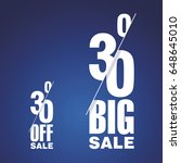 big sale 30 percent off two... | Shutterstock .eps vector #648645010