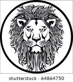 lion vector | Shutterstock .eps vector #64864750