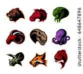 bear  horse  snake  ram  fox ...   Shutterstock .eps vector #648647896