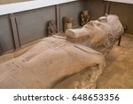 close up of statue of ramesses... | Shutterstock . vector #648653356