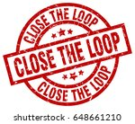 close the loop round red grunge ... | Shutterstock .eps vector #648661210