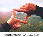 Close Up  Hands Make Frame...
