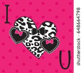 love card  valentine  mothers...   Shutterstock .eps vector #648664798