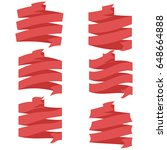 ribbon vector icon set | Shutterstock .eps vector #648664888