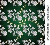 vector golden pattern. seamless ... | Shutterstock .eps vector #648665524
