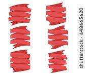 ribbon vector icon set on... | Shutterstock .eps vector #648665620