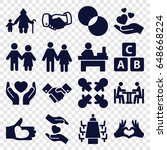 together icons set. set of 16... | Shutterstock .eps vector #648668224