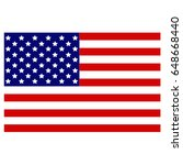 vector illustration of usa flag | Shutterstock .eps vector #648668440