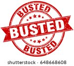 busted round grunge ribbon stamp | Shutterstock .eps vector #648668608
