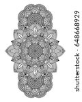 vector indian mandala   Shutterstock .eps vector #648668929