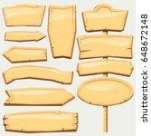 medieval wooden signboard... | Shutterstock .eps vector #648672148