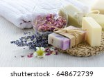 Handmade soap with bath and spa ...