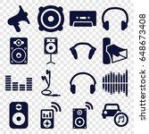 stereo icons set. set of 16...   Shutterstock .eps vector #648673408