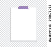 sheet of paper attached with... | Shutterstock .eps vector #648675058