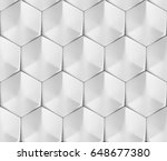 white seamless geometric... | Shutterstock . vector #648677380