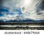 turnagain arm mountain  alaska  ... | Shutterstock . vector #648679666