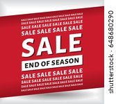 sale end of season layout... | Shutterstock .eps vector #648680290